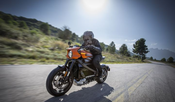 Harley launched its first electric motorcycle, the LiveWire, last year. (Credit: Harley-Davidson)