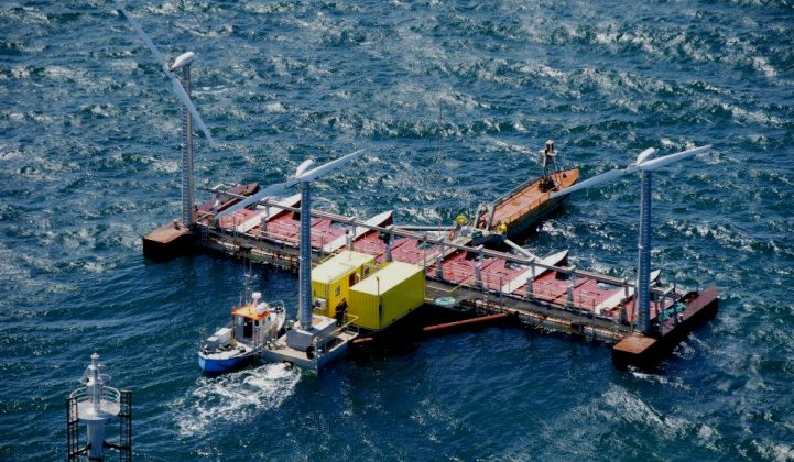 Wave energy converter developers believe hybrid platforms could speed up commercialization. (Credit: Ocean Energy Europe)