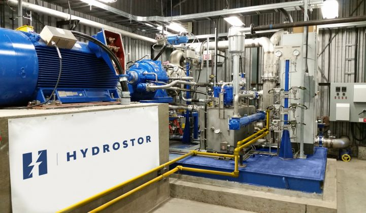 Hydrostor borrows equipment from the mining and oil and gas industries to pump compressed air into purpose-built underground cavities.