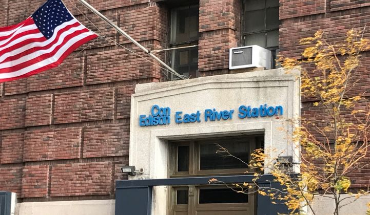 Exterior of Consolidated Edison's East River substation in Manhattan