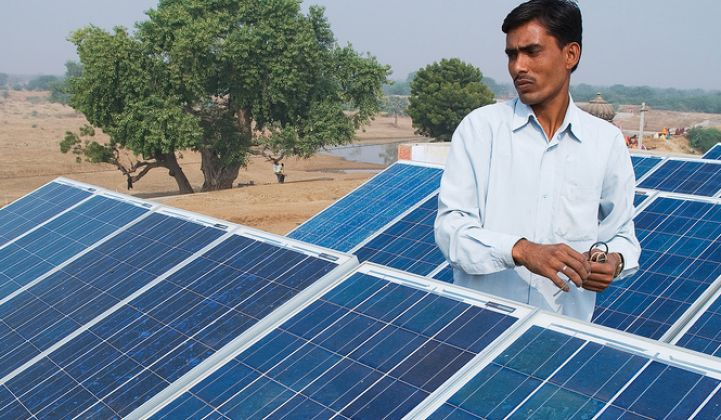 India has made progress on its renewable energy goals.