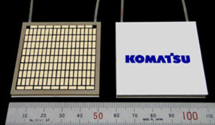 Japan's Komatsu to Ship Heat-to-Electricity Modules