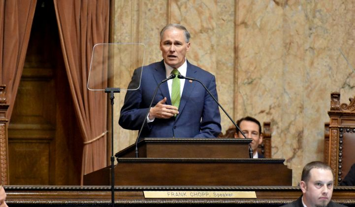 Inslee's proposal would require 100 percent clean electricity by 2035.