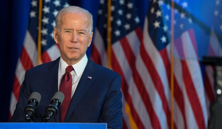 Joe Biden's election victory is being cheered by clean energy industry groups eager to share their priorities for his first 100 days in office.