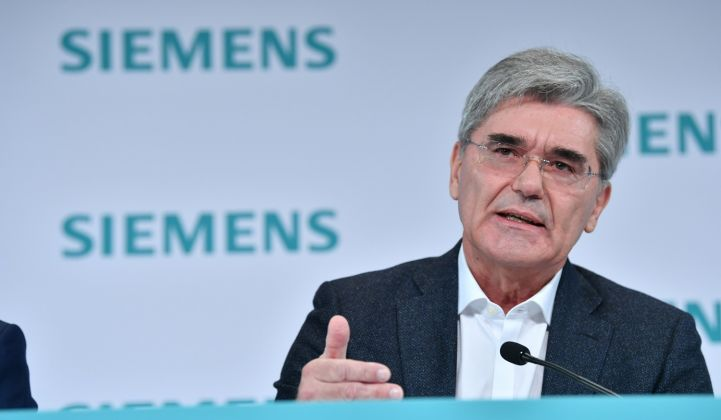 "Siemens CEO Joe Kaeser calls SGRE the ""cornerstone"" of the new Siemens Energy business. (Credit: Siemens)"