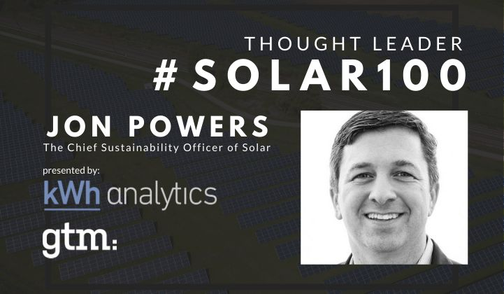 #Solar100's Jon Powers: The Chief Sustainability Officer of Solar