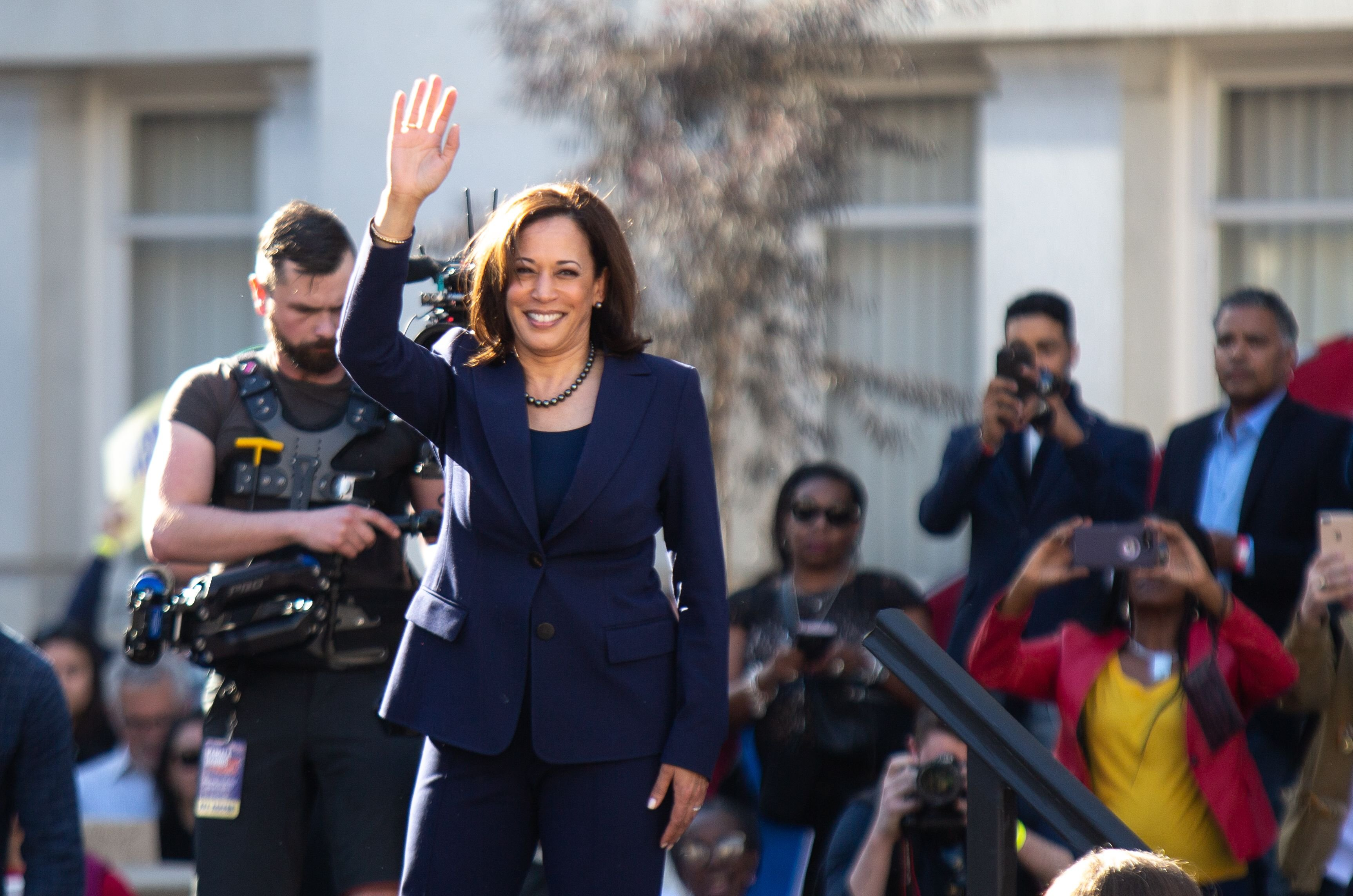 Harris joins the 2020 Democratic ticket.