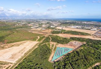 A rendering of the future Kapolei Energy Storage facility, which will enable the shutdown of Hawaii's last coal plant. (Photo: Plus Power)
