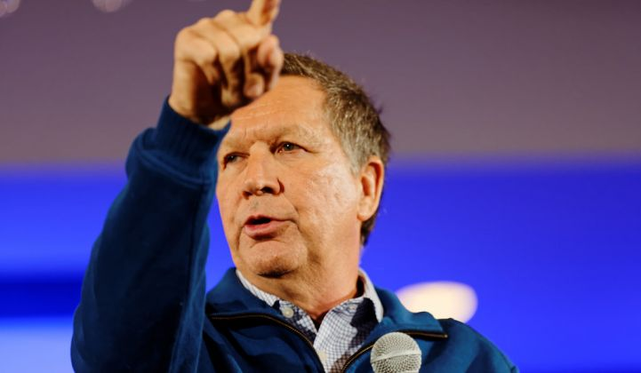 Gov. Kasich Vetoes Continued Freeze on Ohio Clean Energy Mandates