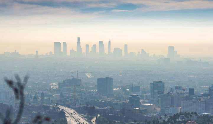 Air pollution has dipped with fewer cars on the road amid the coronavirus pandemic, but only by a little bit.