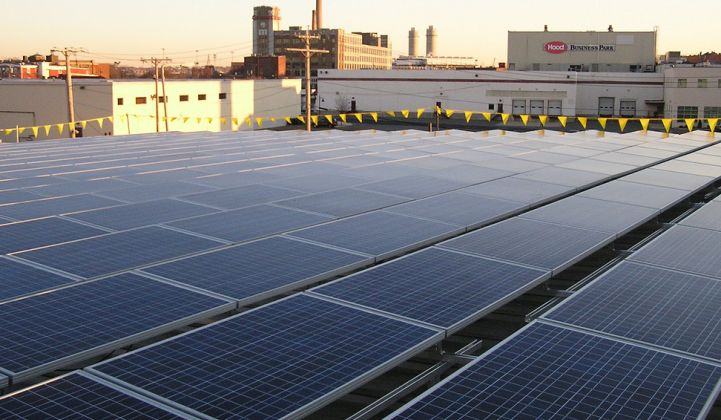 Commercial and industrial rooftop solar.