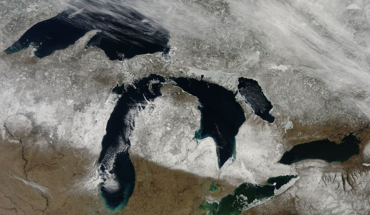 Michigan's grid is among the country's least reliable, due in part to extreme weather. (Photo: NASA)