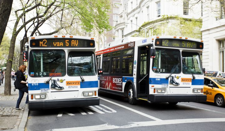 Public transit agencies got federal funds to electrify bus fleets.