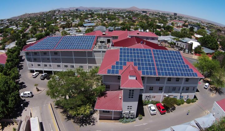 Zero-cost C&I solar systems are making up for losses from customers cancelling self-funded projects. (Credit: IBC Solar/Solsquare)