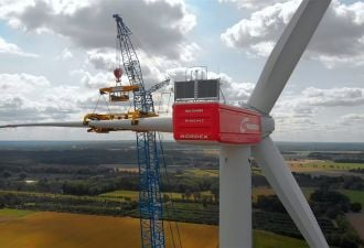 Larger wind turbines have a more muted ecological impact than smaller machines. (Credit: Nordex)