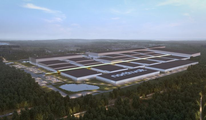 Northvolt Ett, the firm's first gigafactory, is on track to begin operations next year. (Credit: Northvolt)