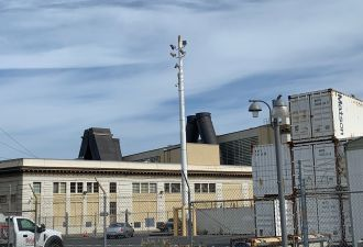 When the Oakland Power Plant fires up, jet fuel exhaust emerges into the urban environment.