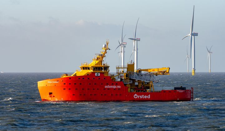 Ørsted expects to have a world-leading 15 gigawatts of offshore wind capacity up and spinning by 2025. (Credit: Ørsted)