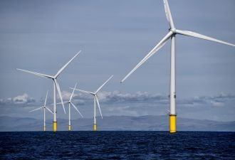 An Orsted offshore wind farm could power the U.K.'s first green hydrogen project. (Credit: Orsted)