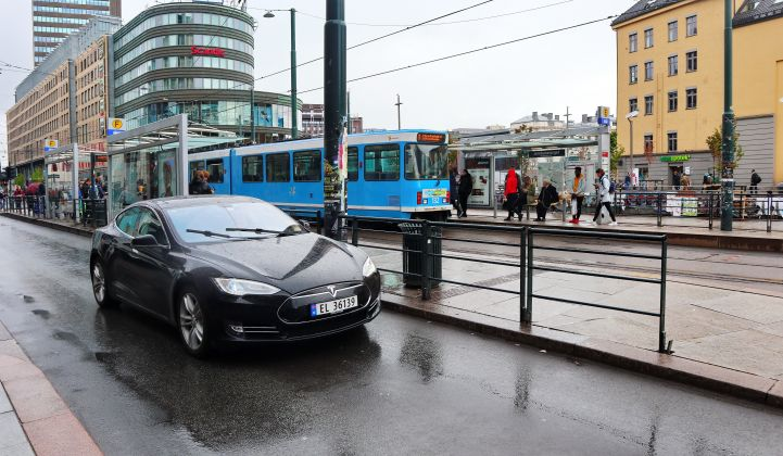 Concerned about charging times, taxi drivers remain rare EV holdouts in Norway.