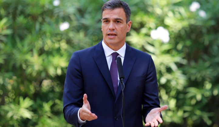 Prime Minister Pedro Sanchez's center-left party is committed to a renewables build out.