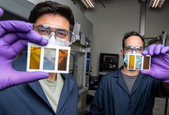 Pervoskite PV cells represent a potential game-changer for solar. (Photo: Dennis Schroder/NREL)