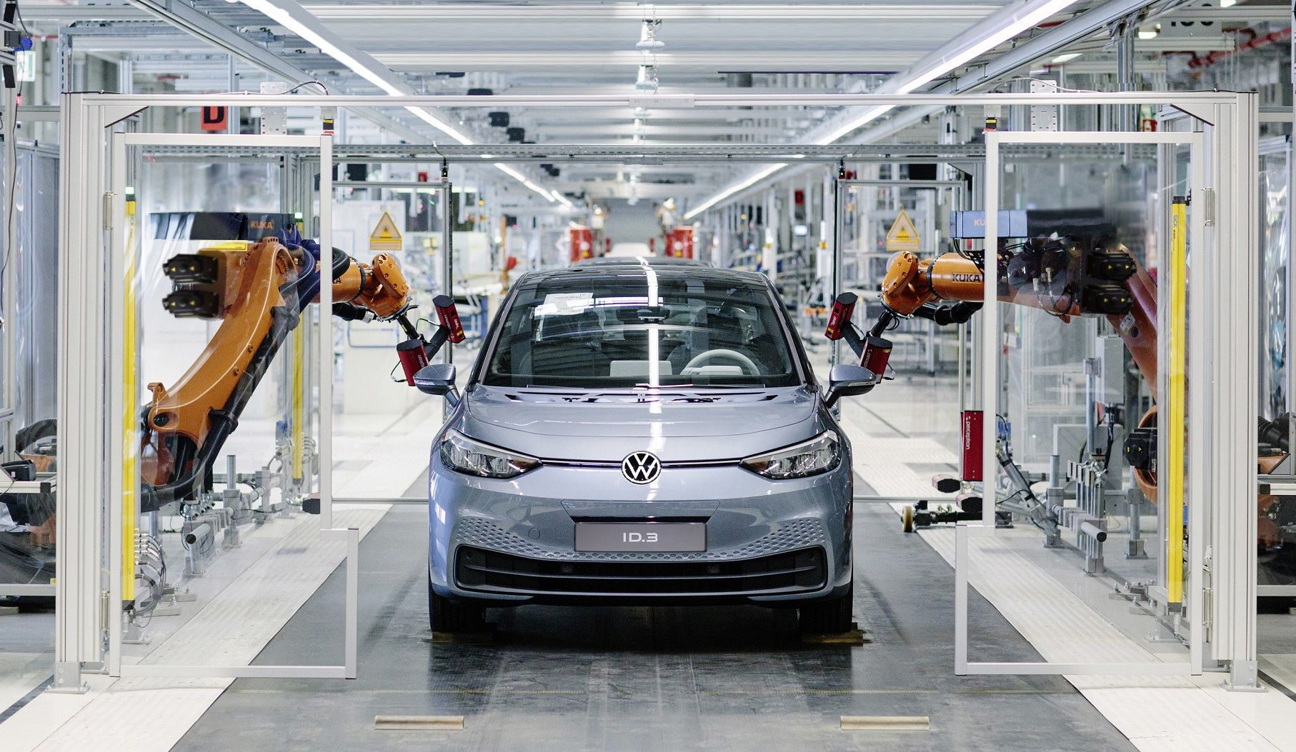 Production of Volkswagen's long-awaited ID.3 electric vehicle is now underway. (Credit: Volkswagen)