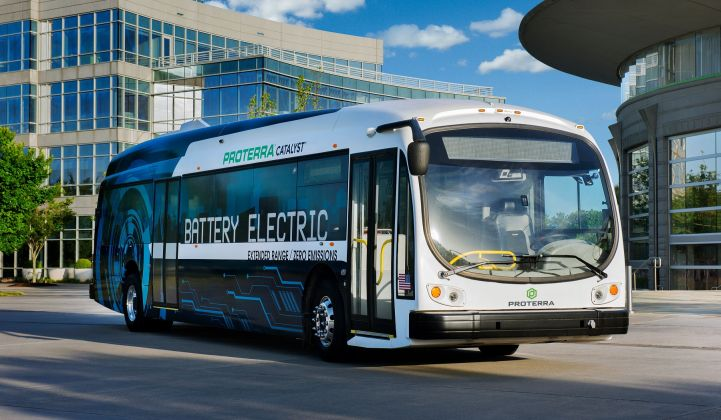 The U.S. electric bus market lags far behind China and Europe.