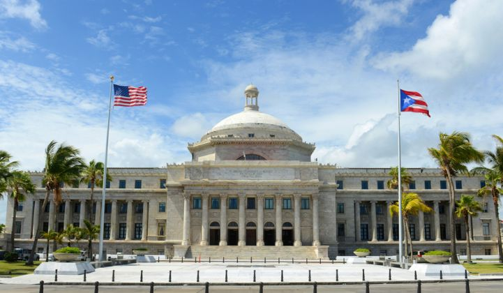 Puerto Rico Capitol Building in downtown San Juan.