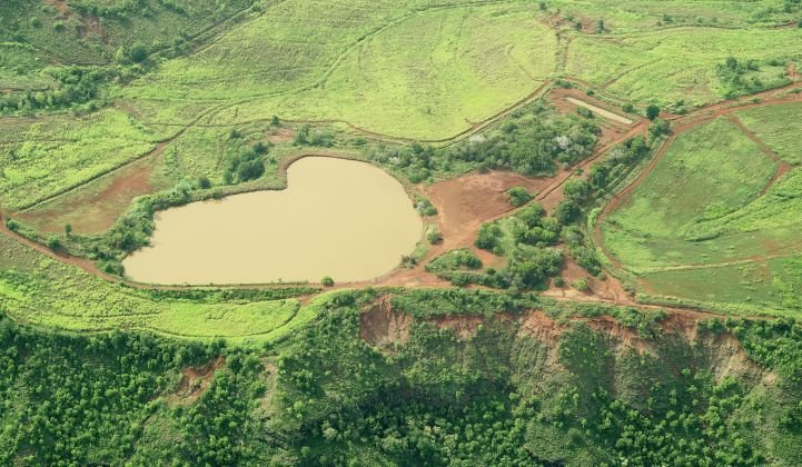 The existing Puu Opae reservoir could become part of a novel solar powered grid storage system on Kauai. (Photo courtesy of KIUC)