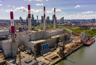 The Ravenswood Generating Station in Queens, New York City.