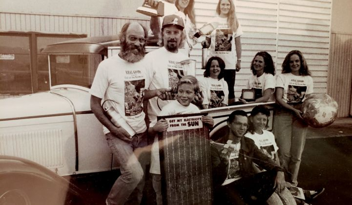 A Real Goods staff photo from 1990, with John Schaeffer second from left. (Photo courtesy of John Schaeffer)