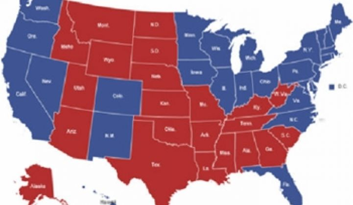 Red States Are Less Energy-Efficient Than Blue Ones: Another Partisan Divide?