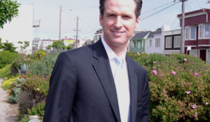 S.F. Mayor Gavin Newsom Makes Waves