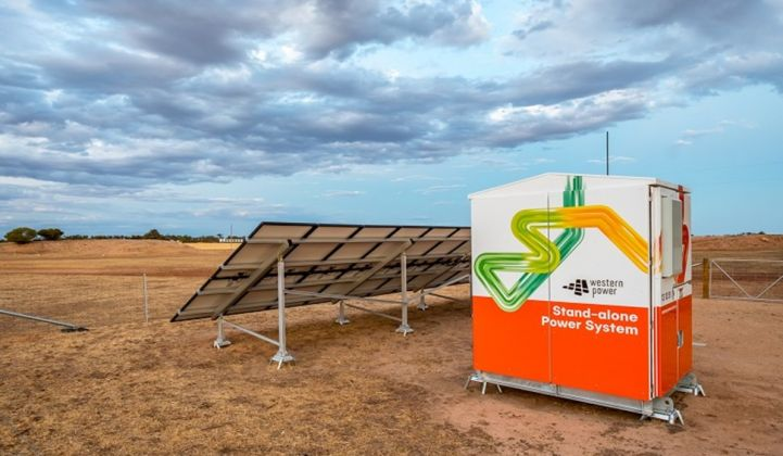 A residential standalone power system in Western Australia. (Credit: Western Power)