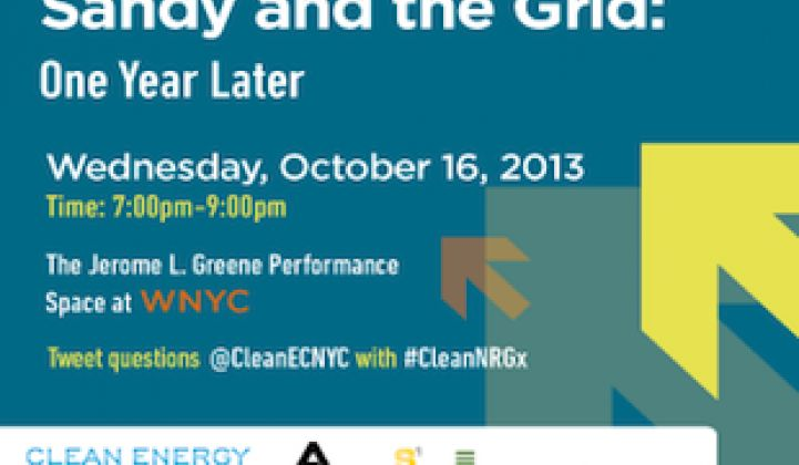 Live Event: Sandy and the Grid in NYC