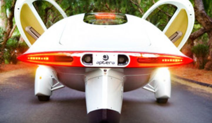 Sci-Fi Inspired Vehicle to Hit California Roads