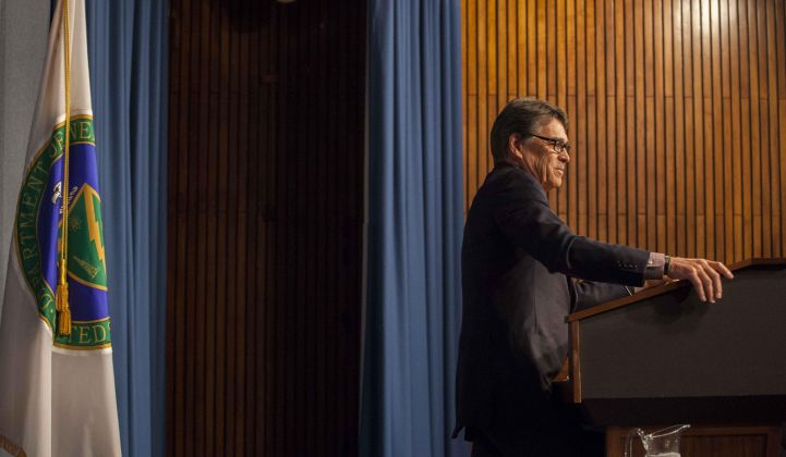Perry, one of the few original Trump cabinet members remaining, will soon leave the Department of Energy, according to multiple reports.