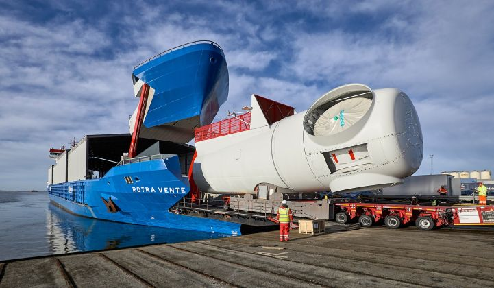 SGRE racked up more than 1 gigawatt of offshore turbine orders from Ørsted last quarter. (Credit: Siemens Gamesa)