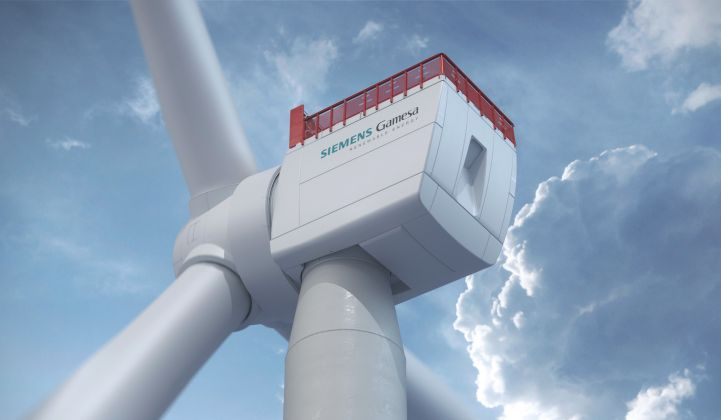 Siemens Gamesa's 14MW model is the largest publicly announced largest wind turbine to date. (Photo: SGRE)