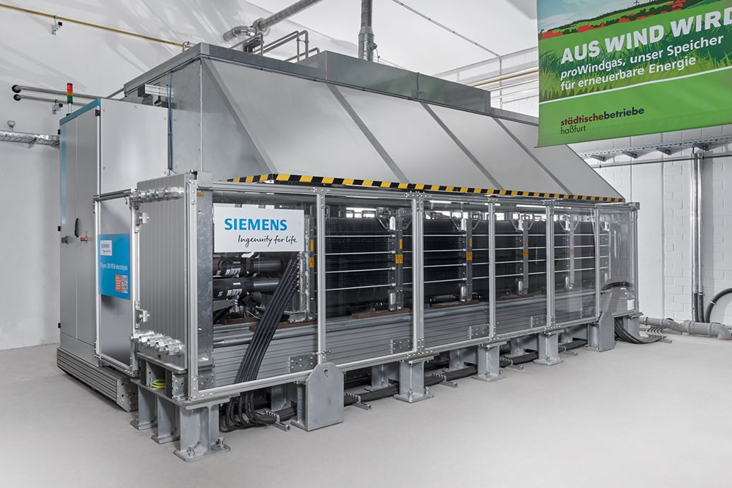 Siemens Energy's Silyzer electrolyzer is part of a green hydrogen technology line the company is hoping will gain market share in the nascent U.S. market. (Credit: Siemens)