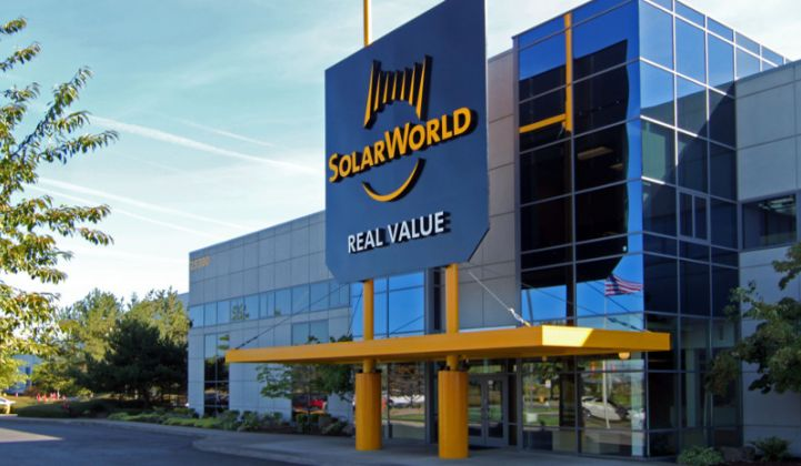 SolarWorld Americas Secures $6 Million Cash Infusion, Cuts 360 Jobs