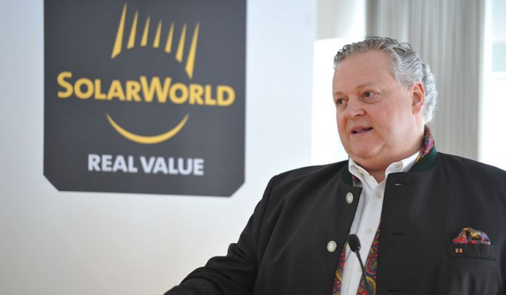 SolarWorld Files for Insolvency, Citing 'Ongoing Price Erosion'