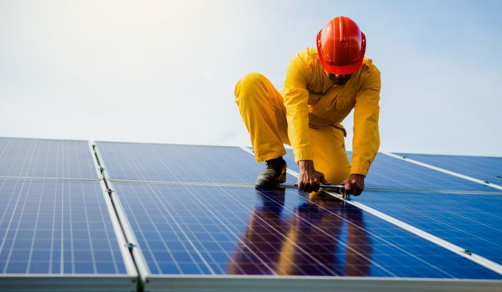 Solar employment is down for the second year in a row.