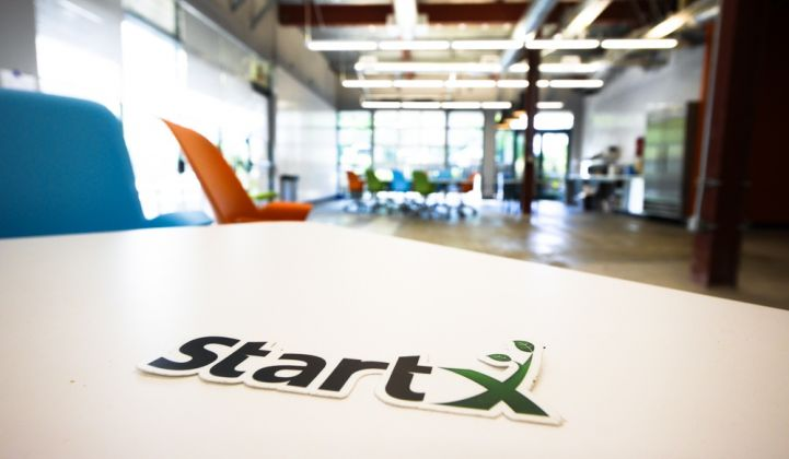 Stanford Startx accelerator for energy innovation.