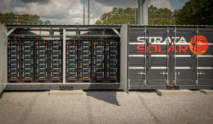 Strata's Ventura system will be an order of magnitude larger than other batteries it's built, like the one pictured here. (Photo: Strata Solar)
