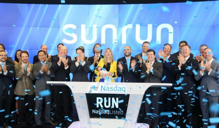 Sunrun's stock has recently been trading at the company's highest share price since shortly after it went public.