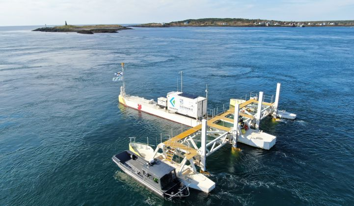 Inerjys-backed Sustainable Marine Energy plans to build a pilot-scale project for Canadian province Nova Scotia.