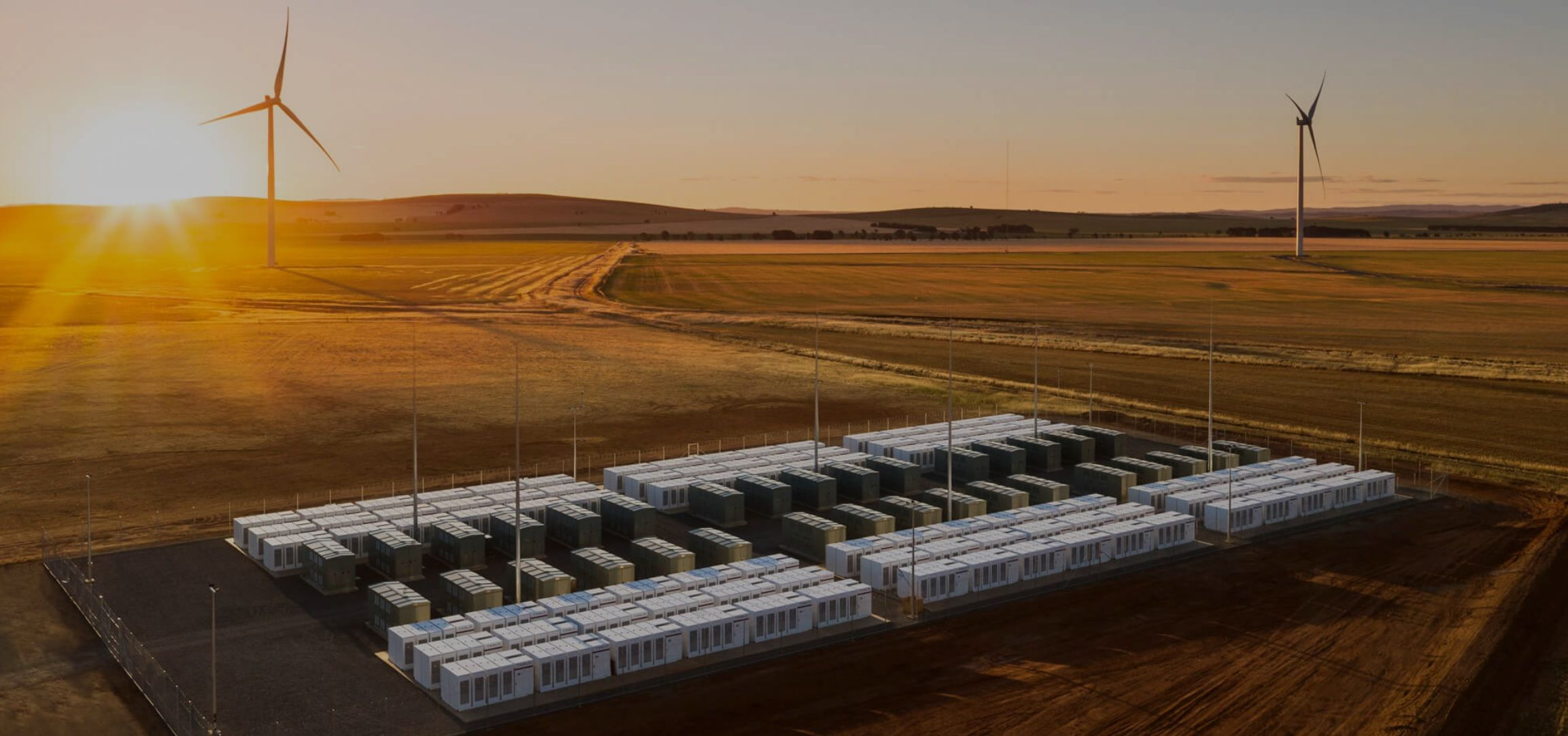 A Tesla battery system in Australia. (Credit: Tesla)