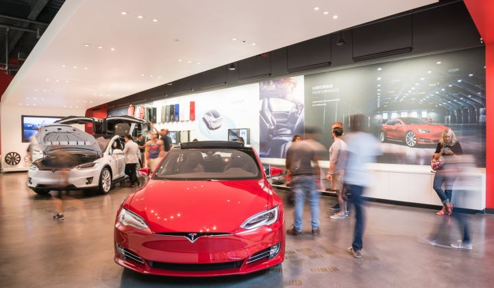 Tesla was intent on selling solar exclusively at its 100-plus Tesla stores and online.